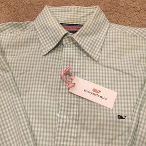 Vineyard Vines Gingham button down -small